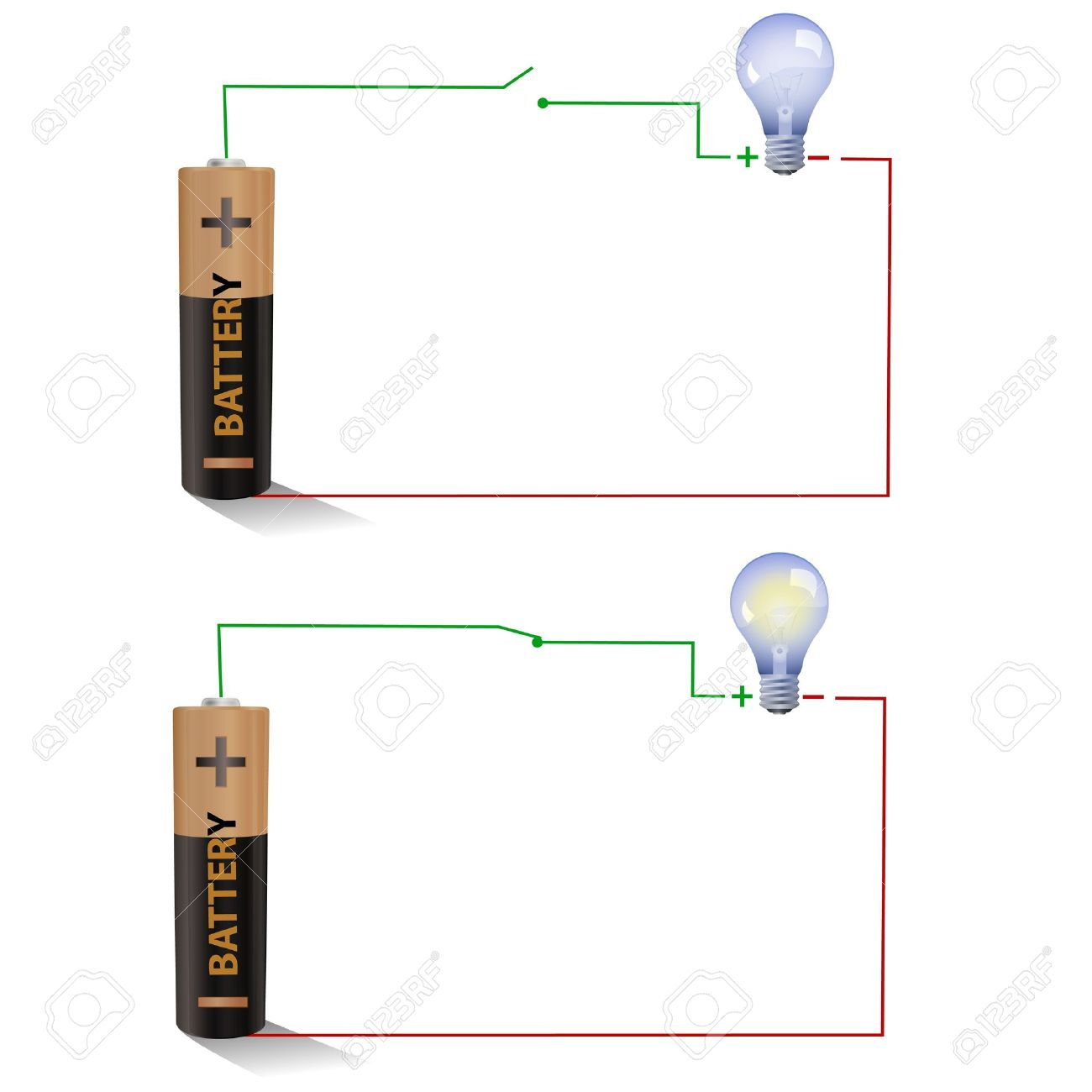 Electric Circuit Clipart Clipground What Is Meant By Open