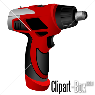 CLIPART ELECTRIC DRILL.