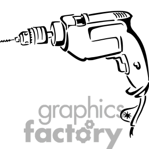 Drill clipart black and white.
