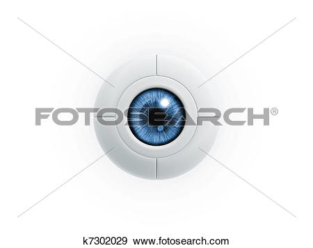 Stock Illustration of electric eye k7302029.