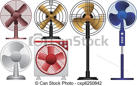 Vector Illustration of Electric Fan.