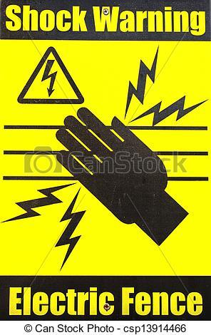 Stock Image of Shock Warning.