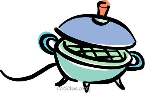 electric grill Royalty Free Vector Clip Art illustration.