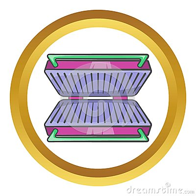 Electric Grill Vector Icon Stock Vector.