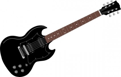Electric Guitar Clipart Black And White.