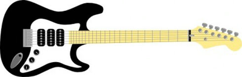 Electric guitar clip art free clipart images.
