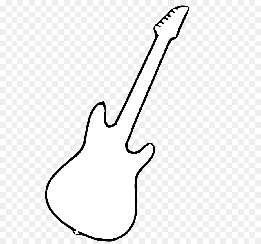 Black And White String Instruments Electric Guitar Clip Art.
