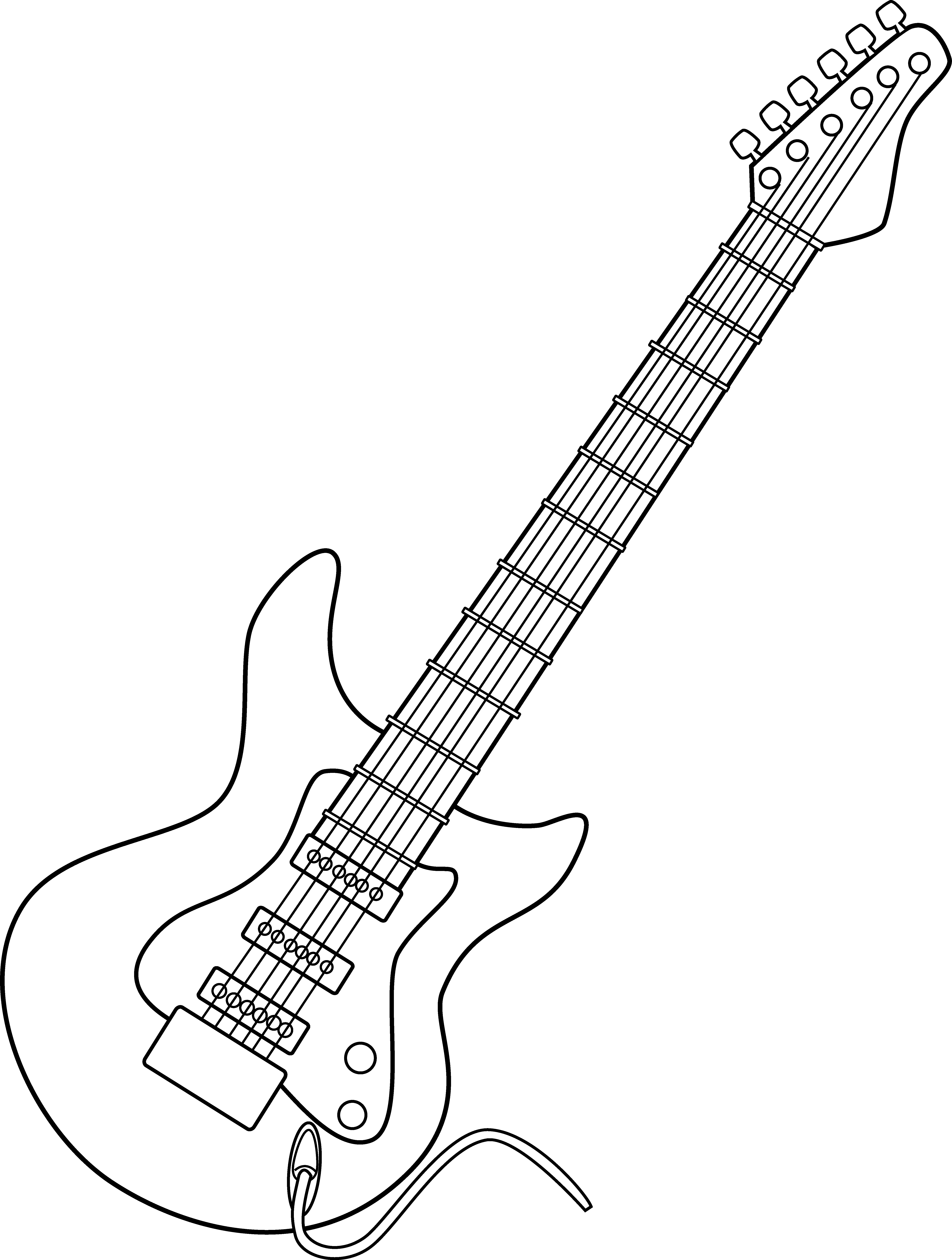 Showing Post Media For Cartoon Electric Guitar Black