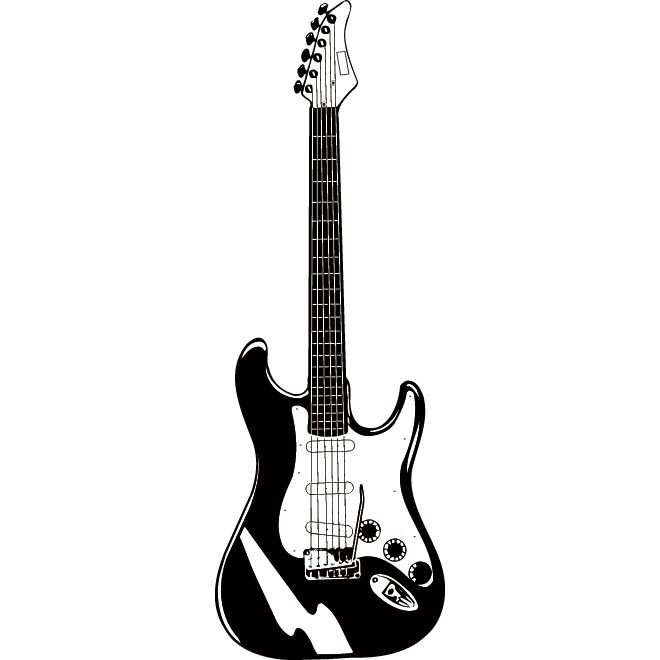 Free Electric Guitar Silhouette, Download Free Clip Art.