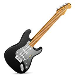 Black Electric Guitar Clip Art.