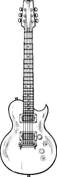 Electric Guitar clip art Free Vector / 4Vector.