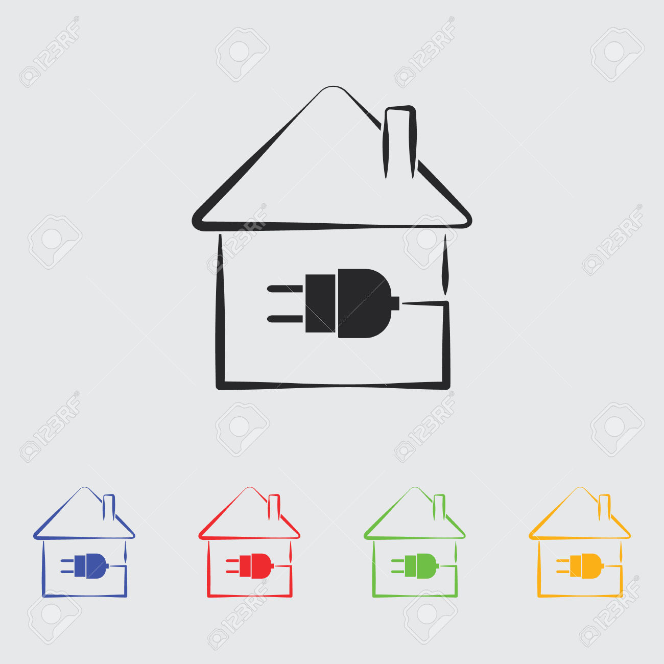 Electric House Plug Icon. Royalty Free Cliparts, Vectors, And.