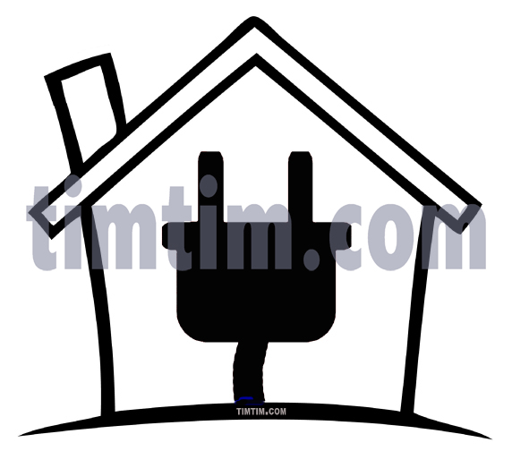 Free drawing of An Electric House BW from the category Building.