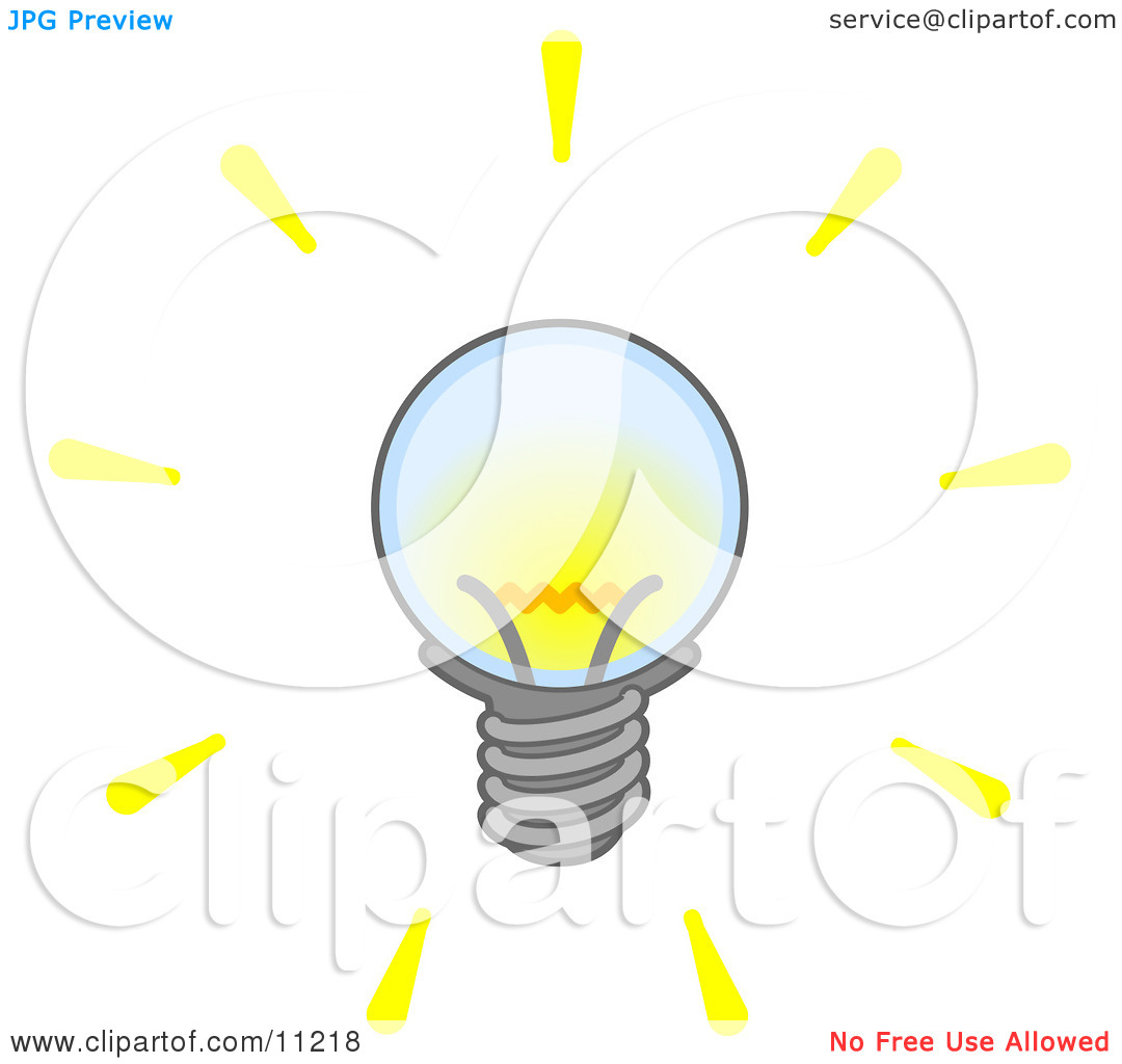 Bright Electric Light Bulb Clipart Illustration by Leo Blanchette.