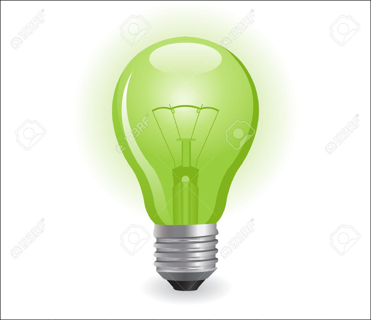 Incandescent Electric Light Bulb Royalty Free Cliparts, Vectors.