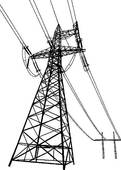 Clipart of High voltage electric line k3044710.