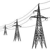 Electric Transmission Line Sign Clip Art.