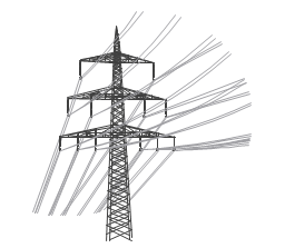 Down Power Lines Clipart.