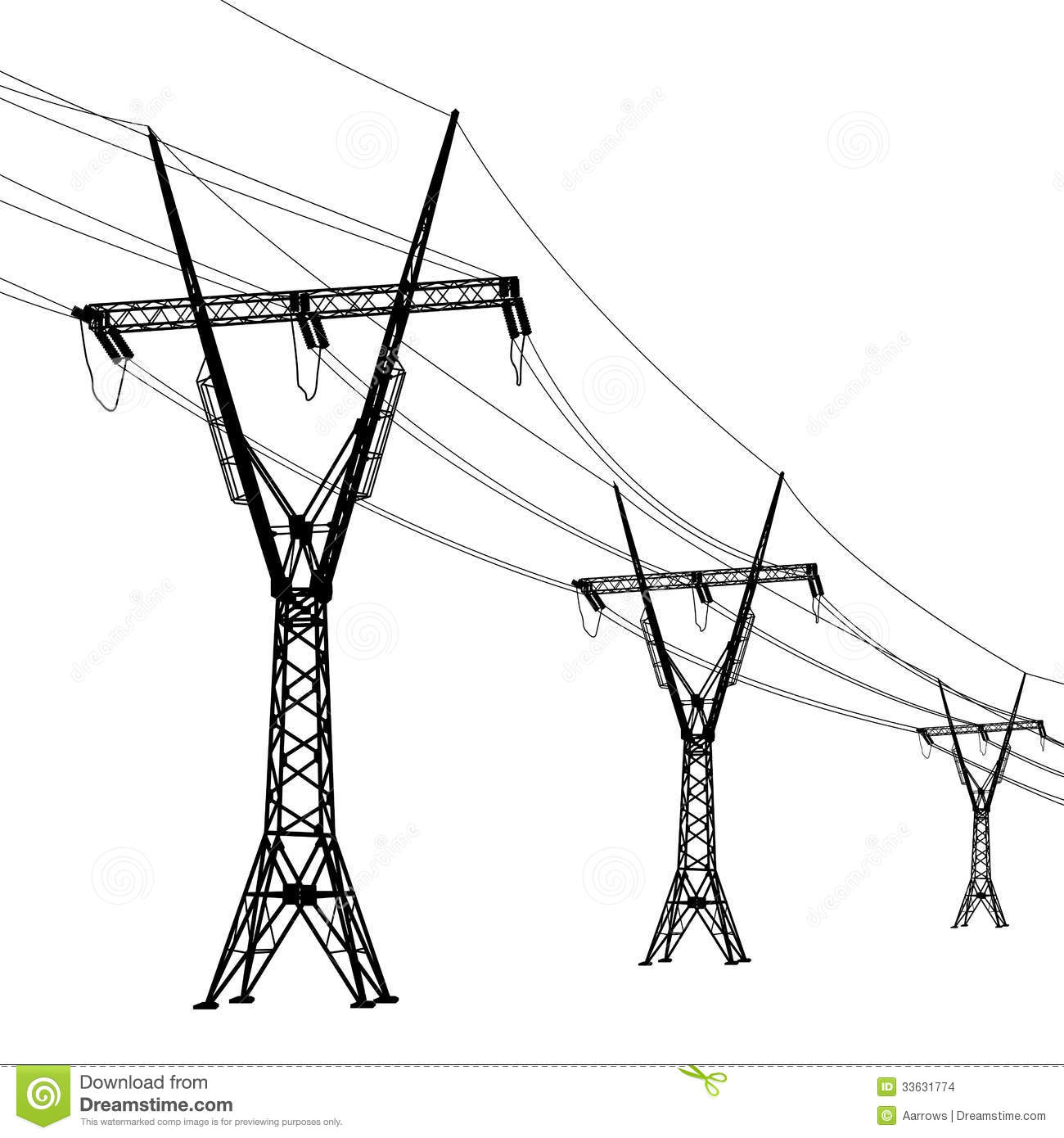 Clipart power lines.