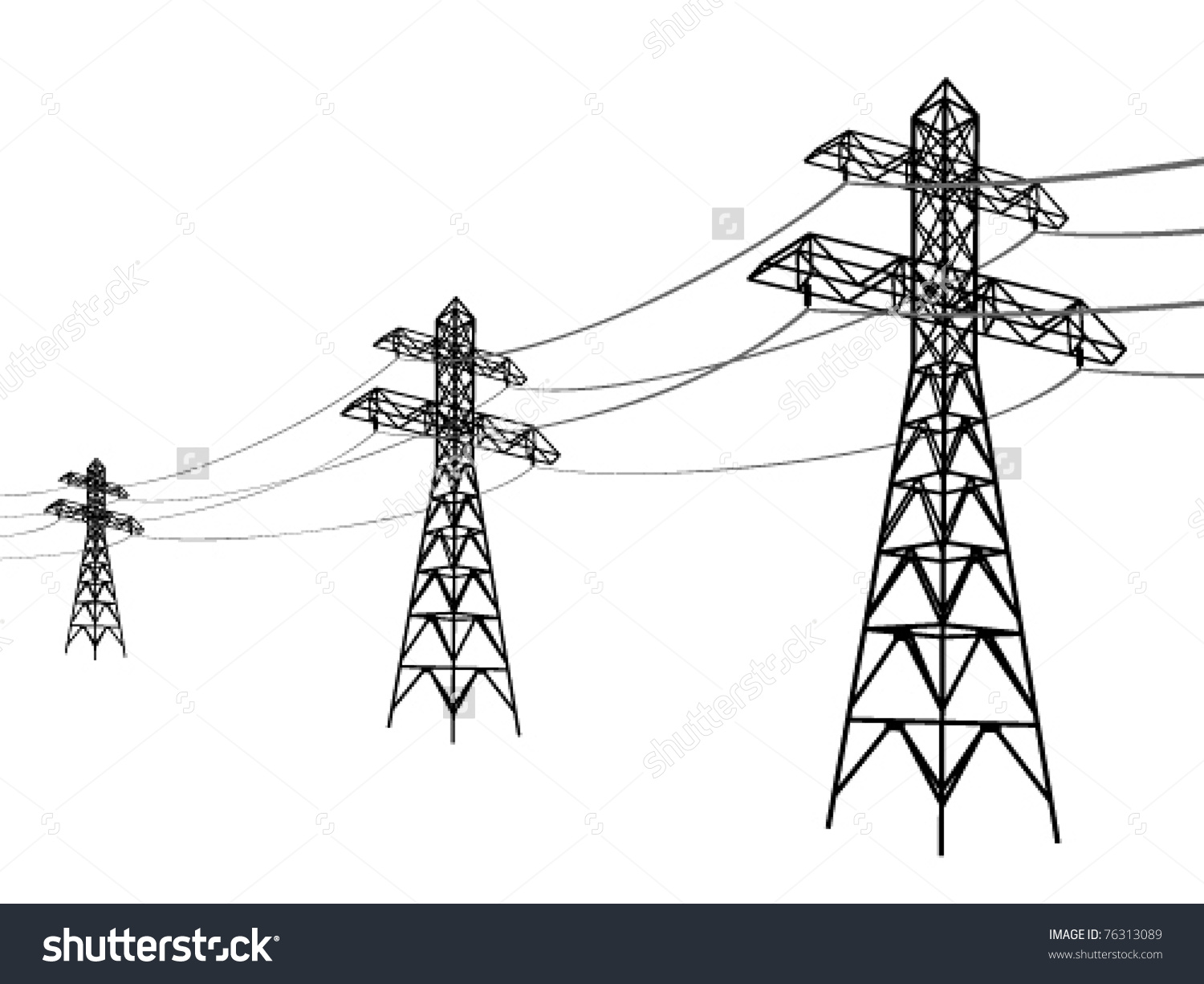 Electricity Lines Clipart