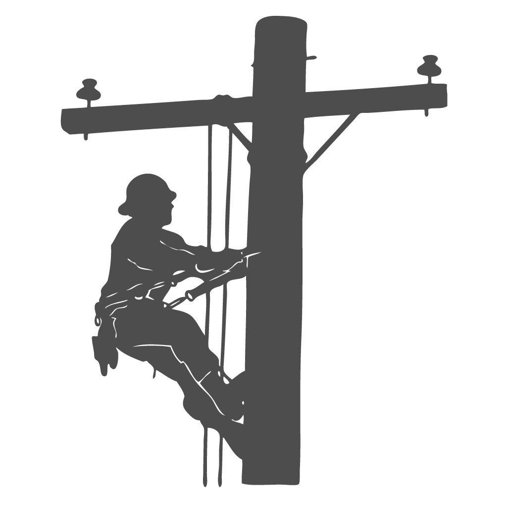 Free Electrical Lineman Silhouette, Download Free Clip Art.