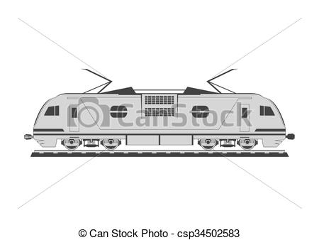 Vector of Electric locomotive. Isolated on background. Vector.