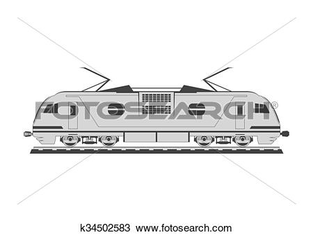 Clipart of Electric locomotive k34502583.