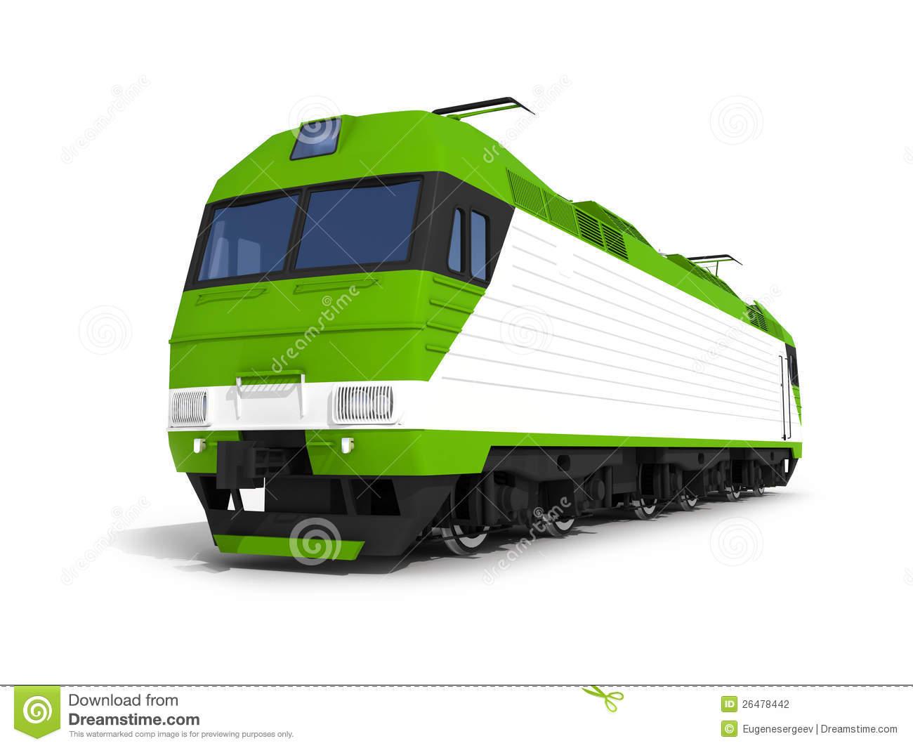 Modern train engine clip art.