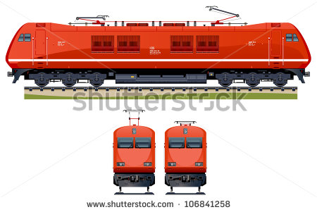Freight Train Animated Clipart.