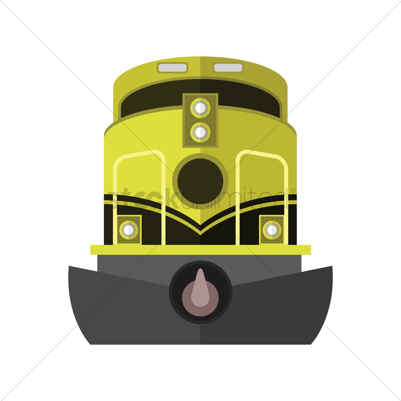 Electric train Vector Image.