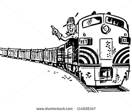 Diesel locomotive clipart.