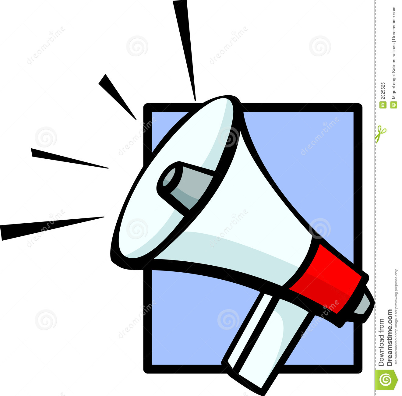 Electronic Bullhorn Vector Illustration Royalty Free Stock Photo.