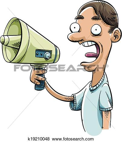 Clip Art of Electric Megaphone k19210048.