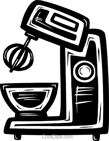 electric mixer Royalty Free Vector Clip Art illustration.