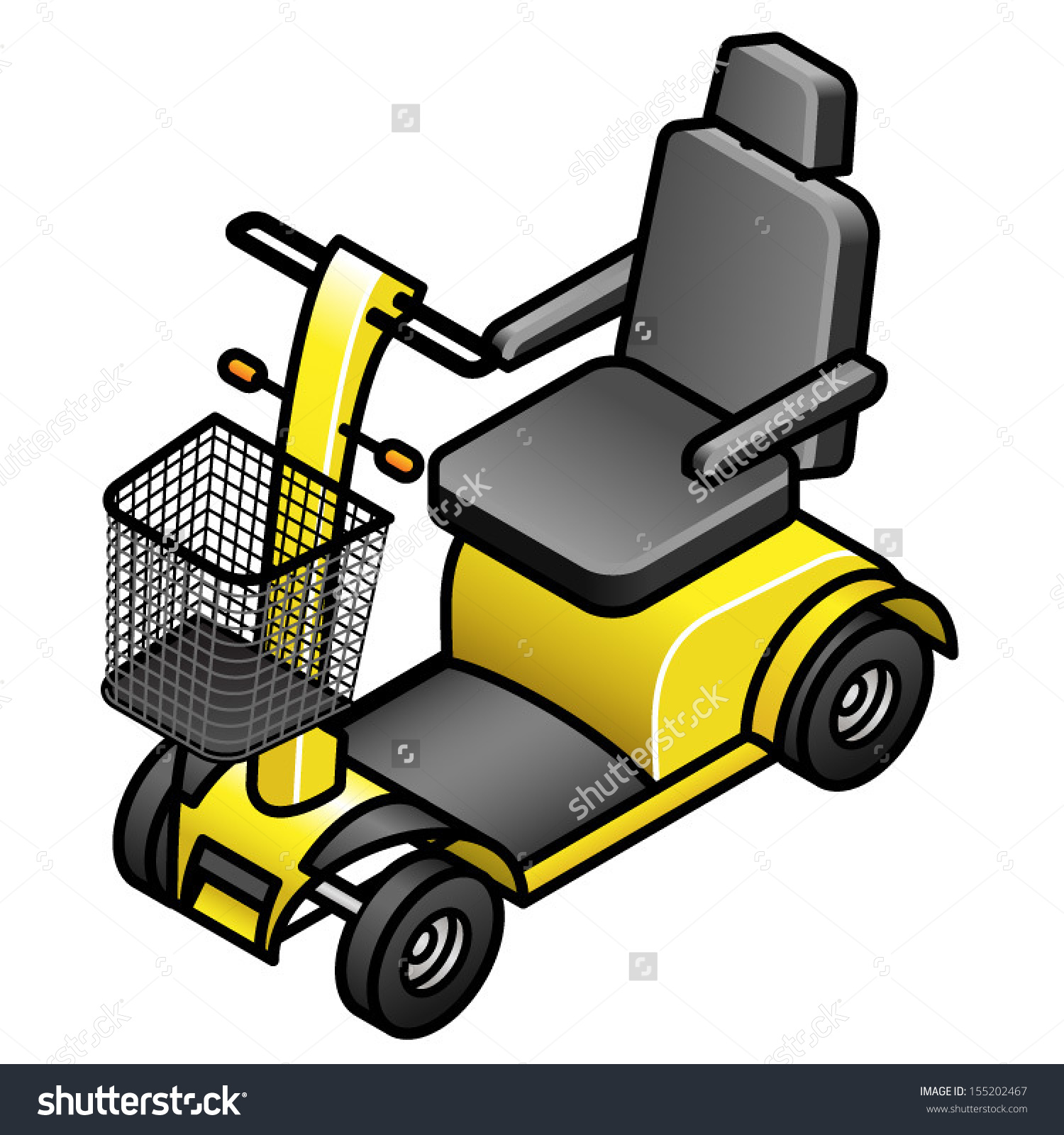 Yellow Mobility Scooter Stock Vector 155202467.