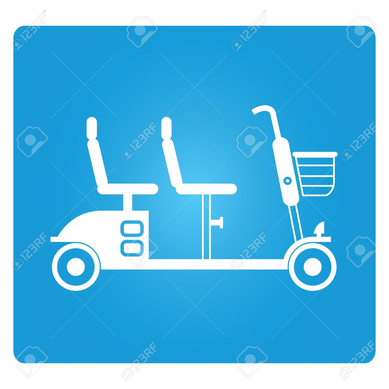 Mobility scooter clipart.