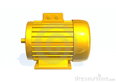 Electric Motor Gears Stock Illustrations.