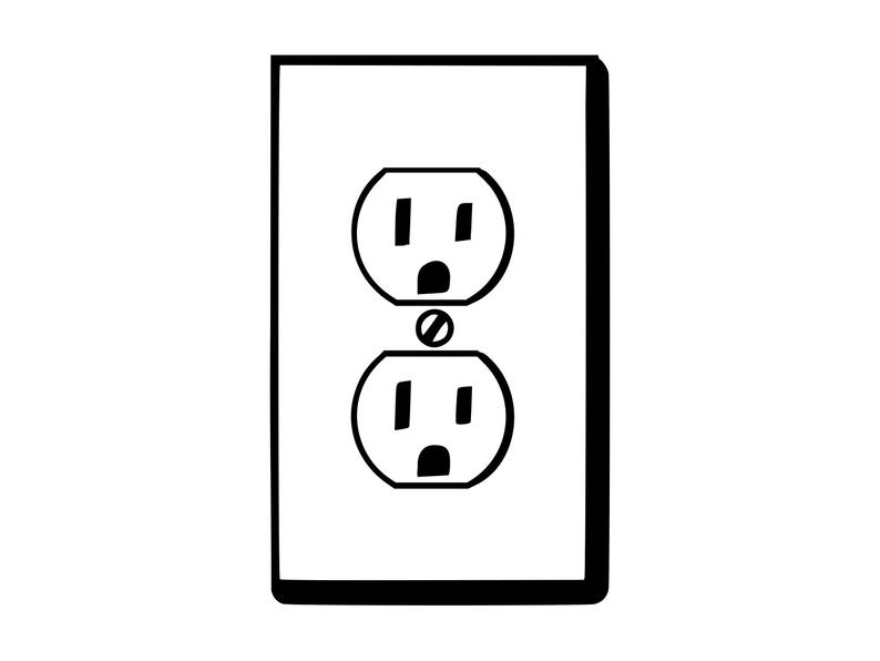 electric plug clipart #15