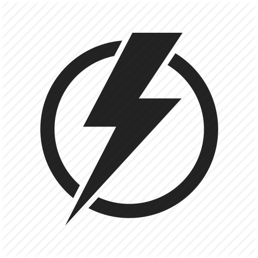 Electric, electricity, energy, lightning, power icon #4560.