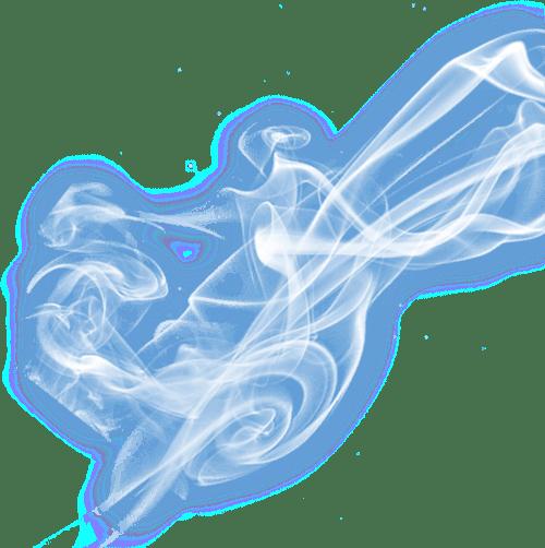 Electric Blue Smoke transparent PNG.