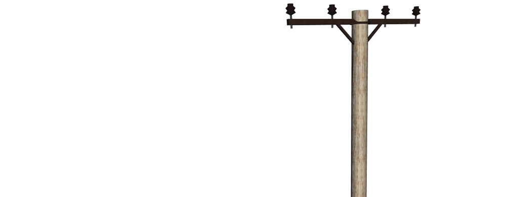 Telephone pole clipart.