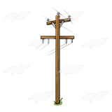 A Beka Book :: Clip Art :: Power Pole.