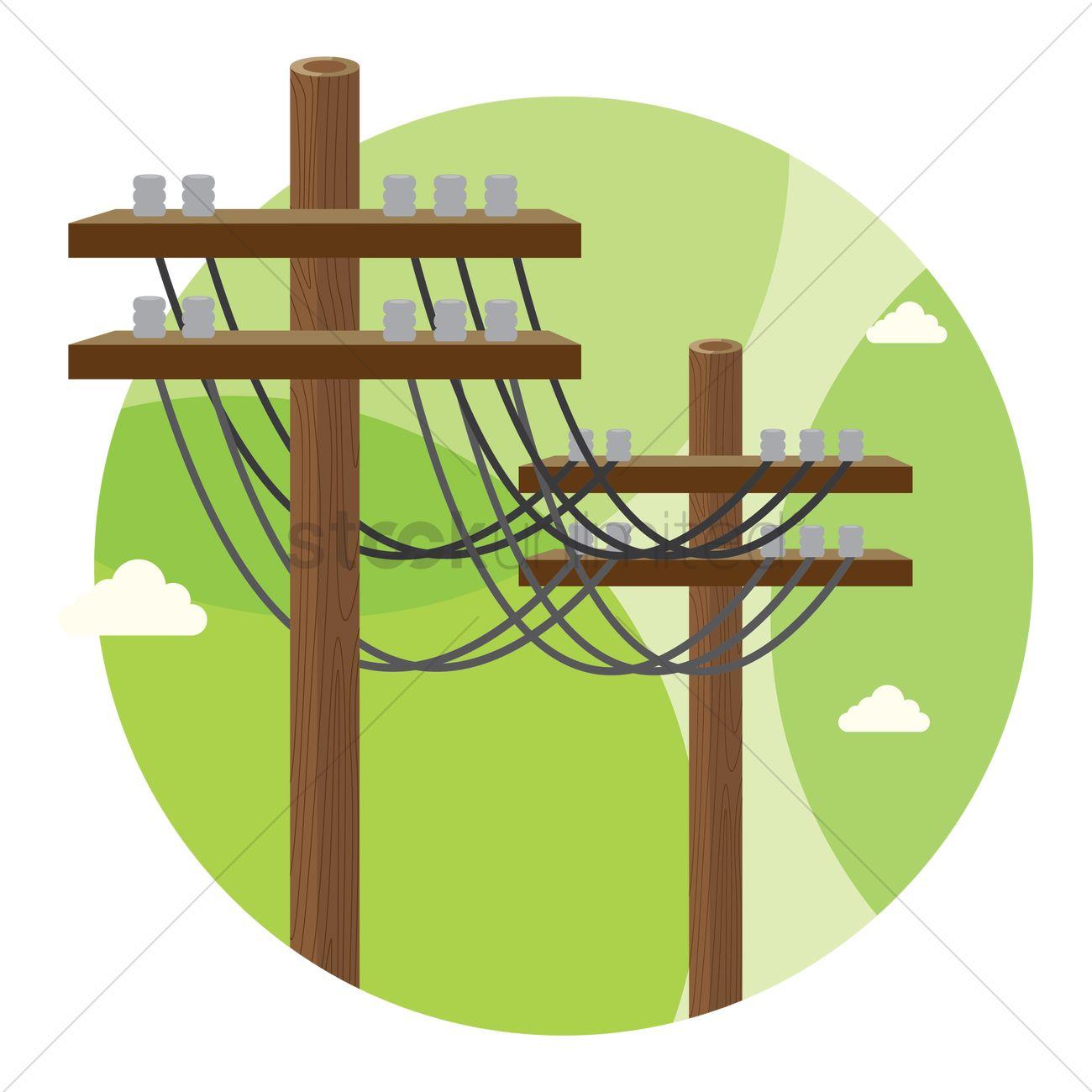 Electric poles Vector Image.