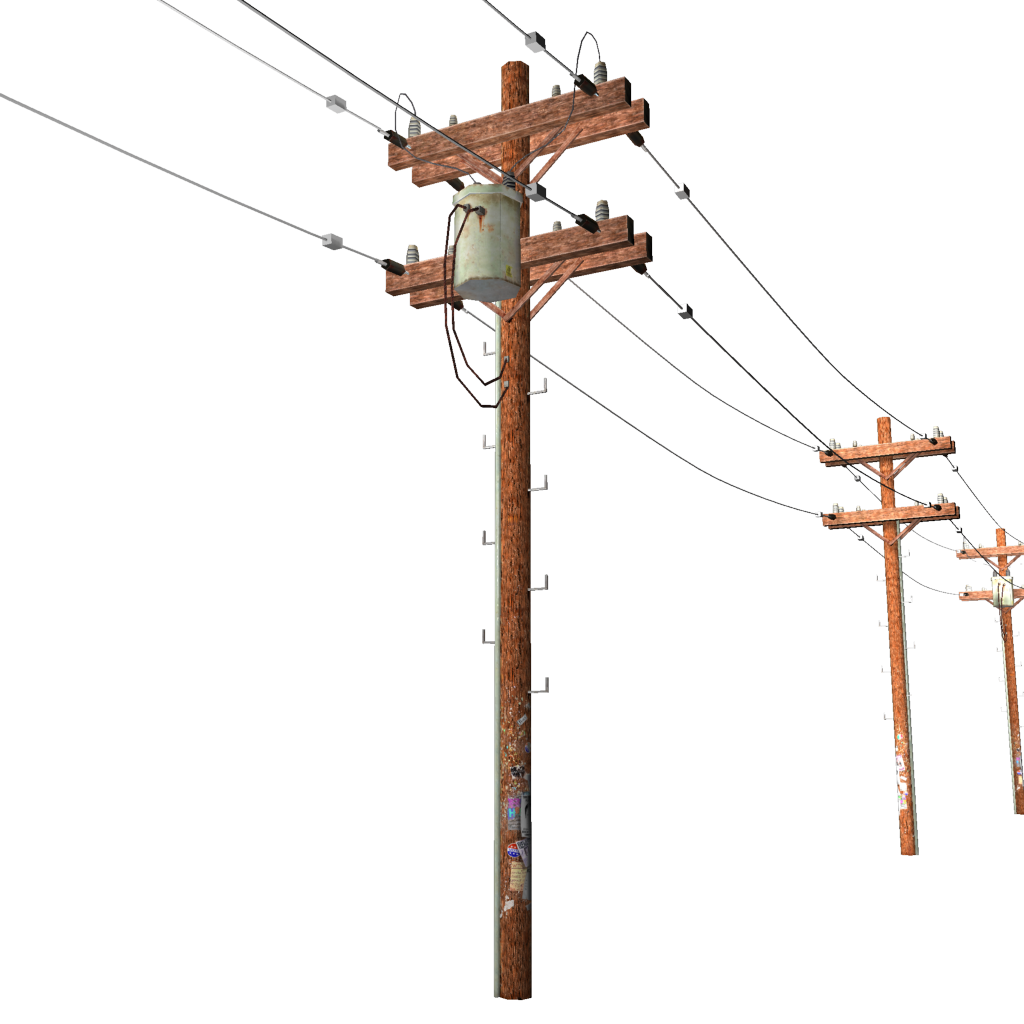 Power Lines Clipart.
