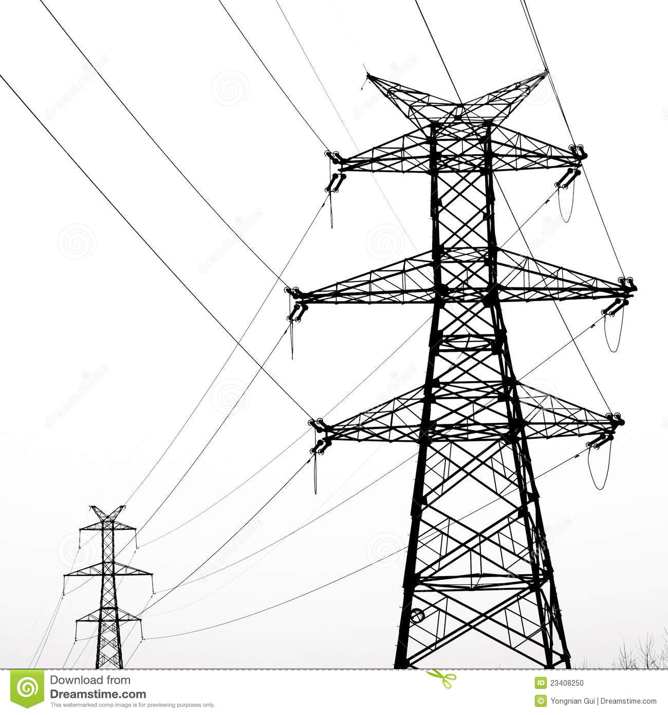 Electricity pylon clipart.