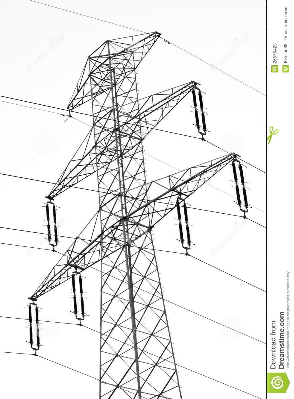 Electric Pylon Stock Photo.