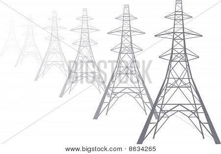 Electricity pylons Stock Vector & Stock Photos.