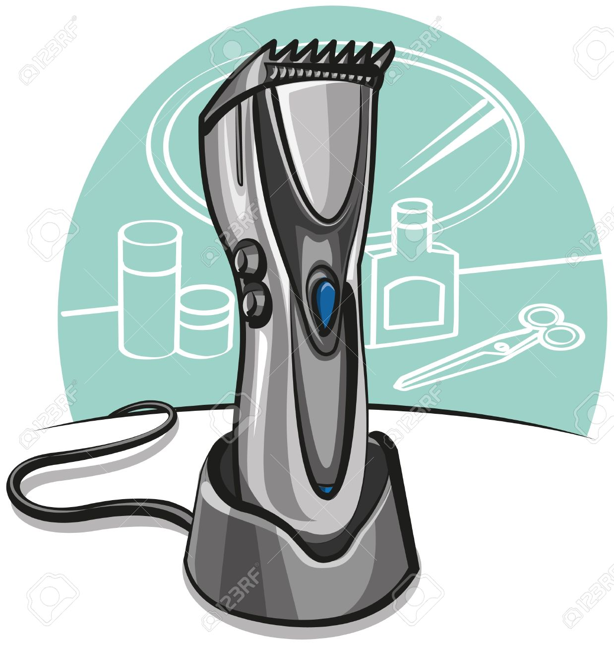Electric Hair Clipper Royalty Free Cliparts, Vectors, And Stock.