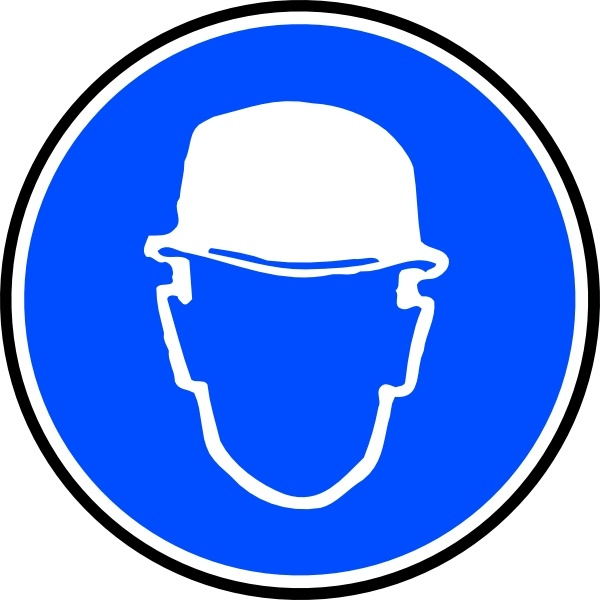 Mantatory Hard Hat Over Head clip art Free vector in Open office.