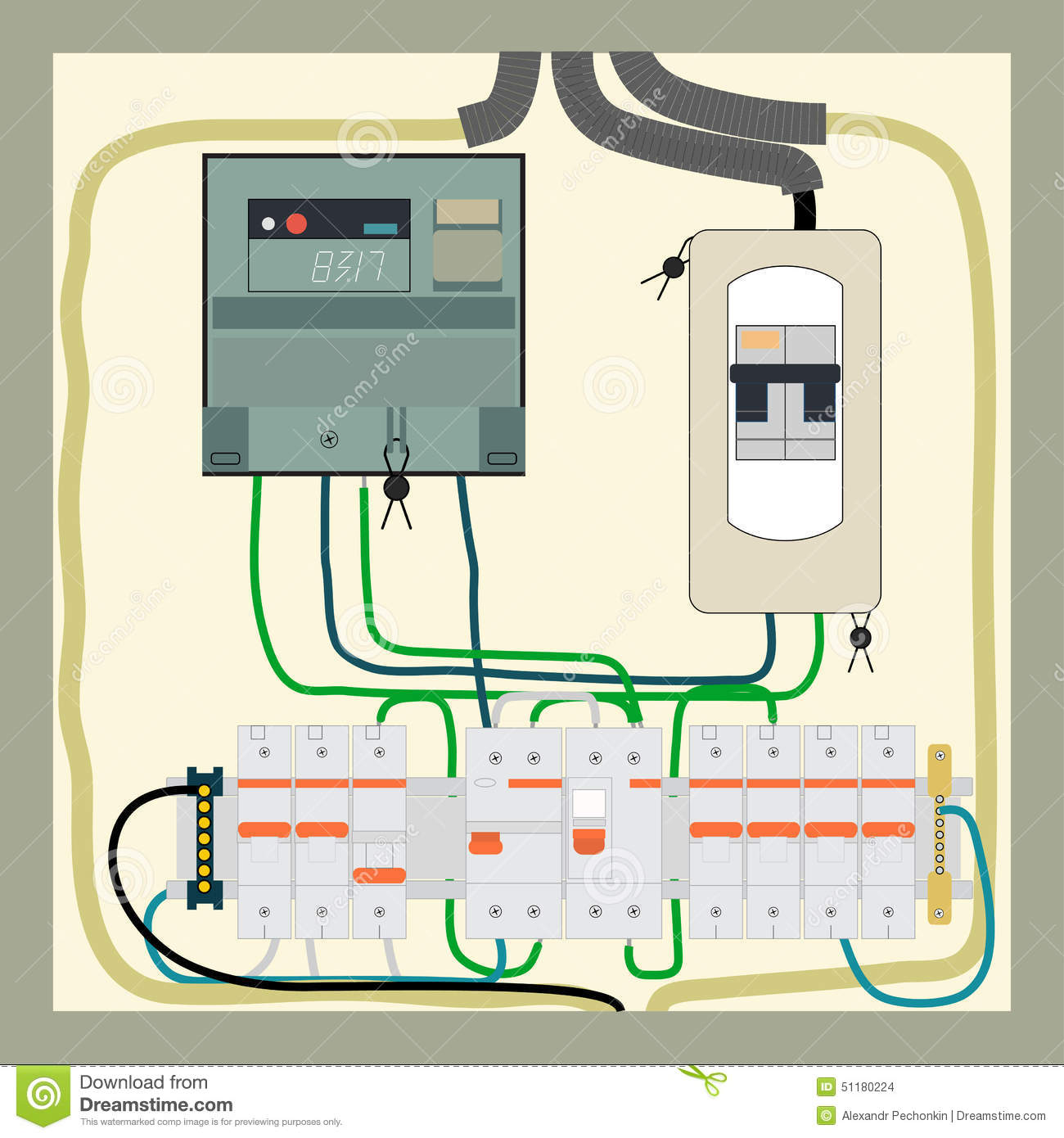 Electrical panel clipart.